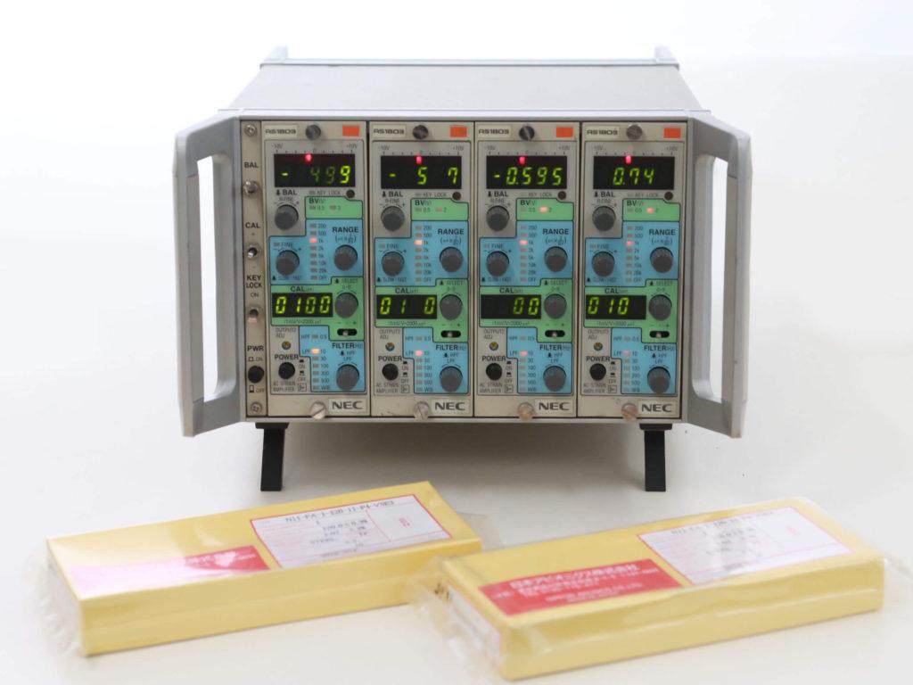 NECAvio赤外線テクノロジー(現A&D)製 ACストレンアンプ AS-1803(4chベンチトップケース付)